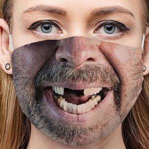 1 Stück Erwachsene Mundschutz Lustig Waschbar Baumwolle Stoff Mehrweg Tuch Halstuch Bandana Motive Halstuch Bandana Mund und Nasenschutz(#5)
