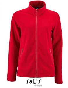 Damen Plain Fleece Jacke Norman - Farbe: Red - Größe: S