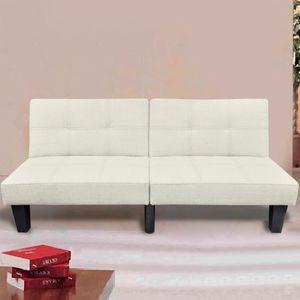 CHIC® Schlafsofa im skandinavischen Stil,Eckcouch|Polstersofa Bettsofa Lounge Sofa für Wohnzimmer Verstellbar Beige※5534