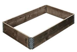 Gartenfreude Hochbeet Pflanzbeet 120 x 80 x 19,5 cm aus Fichtenholz, erweiterbar, grau lasiert, W4650-1002-109