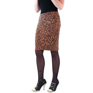 Leopard Braun Schwarz Print Damen Sommer Bleistiftrock one size