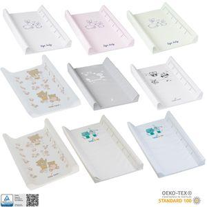 Tega Baby ® Wickelauflage 50 x 70 cm Wickelmulde Auflage zum Wickeln für Babys mit weicher Polsterung, Motiv:Eule - weiß