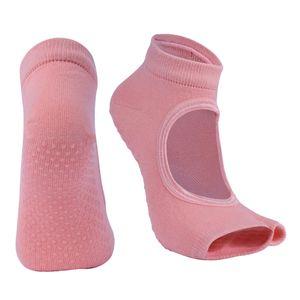 Womens Sport Gym Yoga Socken Rutschfeste Halbe Zehe Sticky Grip Socken Orange 23x13cm Yoga-Socken Solide