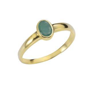 F Ring 375/- Gold gelb 052 (16,6) Smaragd grün 283370166-8