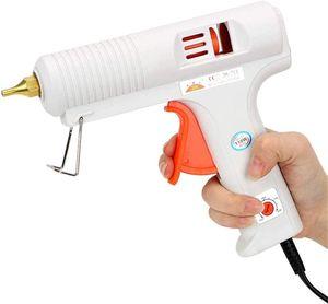 110W Hoch Professionelle Heißkleber Pistole mit Temperatur einstellbar und Tropfreie Düse heißklebepistole für craftsDIY Kunst, Home Repair