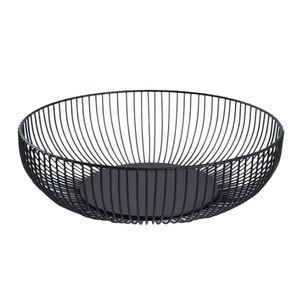 Obstschale Schüssel Korb Container Herzstück Schüssel Für Wohnzimmer Und Moderne Küchentischdekoration   Farbe Schwarz, 11 X 6 X 3