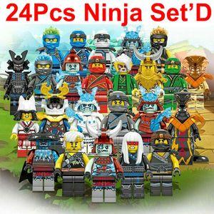 24 Stk Mini Figuren Ninjago Kai Jay Sensei Wu Master Bausteine Spielzeug