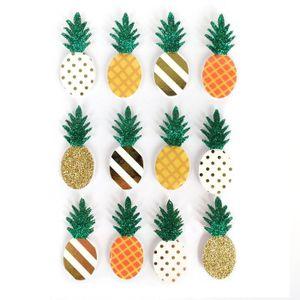 12 3D-Aufkleber Ananas 4.5 cm