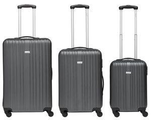 Packenger Koffer Line 3er-Set, M/L&XL, grau