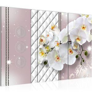 Blumen Orchidee BILD 120x80 cm − FOTOGRAFIE AUF VLIES LEINWANDBILD XXL DEKORATION WANDBILDER MODERN KUNSTDRUCK MEHRTEILIG 008831a