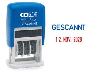 """COLOP Datumstempel Mini Dater S160 L6 """"GESCANNT"""""""