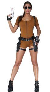 y Abenteurerin Kostüm für Damen Gr. S-L, Größe:XL