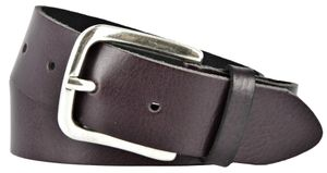 Vanzetti Damen Leder Gürtel Leder Damengürtel dunkel lila 35 mm Ledergürtel 80