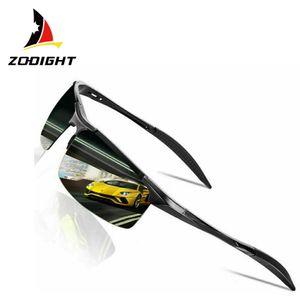 Zodight Herren Polarisierte Treiber Glasses Sportbrille Sonnenbrille Al-Mg Metallrahme Ultra leicht  schwarz