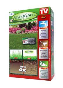 Avant Grazz® Rasensamen für besonders strapazierfähigen Rasen, 1 kg, ultra-resistenter Rasensamen, Rasenpellets Regeneration Rasen - Rasensamen für robusten und widerstandsfähigen Rasen - Grassamen für 40 m², original aus TV Werbung