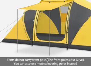 6-8 Personen Outdoor Camping Zelt Familienzelt Regenschutz Outdoor Klettern Camping Zelt 485x240x195 cm, Gelb