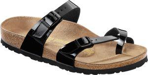 BIRKENSTOCK Mayari Damen Zehentrenner Schwarz Lack Schuhe, Größe:36