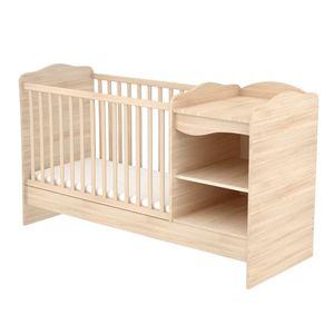 Offene kombinierte Kinderbett (60 x 120) - bernstein