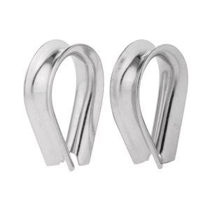 Edelstahl Kausche Kauschen Drahtseil Stahlseil Kausch 2mm - 12mm Seilkausche 5mm Silber
