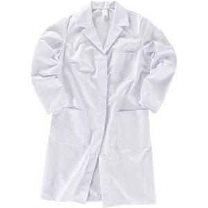 Größe 42 beb Damen Mantel Langarm 65 % Polyester 35 % Baumwolle weiß verdeckte Knopfleiste Reverskragen