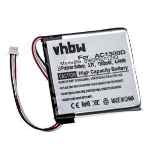 vhbw Akku passend für Angelcare AC1300-D Elterneinheit Babyfon (1200mAh, 3,7V, Li-Polymer)