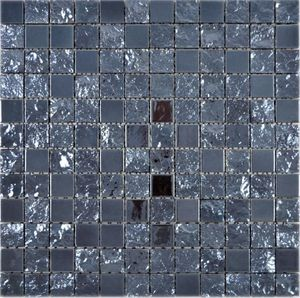 Keramik Mosaik Baku schwarz Mosaikfliese Wand Fliesenspiegel Küche Bad MOS18-0303_f