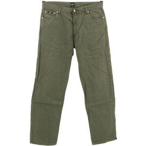 #5482 Hugo Boss, Arkansas ,  Herren Jeans Hose, Denim ohne  Stretch, olivgrün, W 38 L 34
