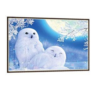 5D Diamond Painting Paint von Stickerei Kreuzstich Geschenk 30x40cm Pinguin 白 企鹅 30X40CM 5D Diamond Painting Vollbohrer