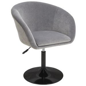 Duhome Clubsessel Lounge Sessel in grau Sessel Cocktailsessel Stoff Samt