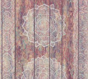 A.S. Création Vliestapete Boho Love Tapete beige rot weiß 10,05 m x 0,53 m 364621 36462-1