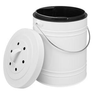 bremermann Komposteimer mit 5 Liter Inneneimer AktivkohlefilterAbfalleimer weiß
