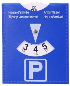Dunlop Parkscheibe 15 x 11 cm blau