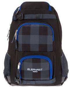 Schulrucksack Jungen Elephant Hero Gear Rucksack Mädchen Campus Skaterrucksack backpack 12366 Plaid Schwarz Blau