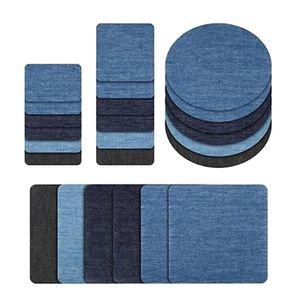 24 Stück Aufbügelflicken Stoff Bügelflicken Patches Bügeleisen Patches Applique Reparatursatz für Kleidung, Taschen