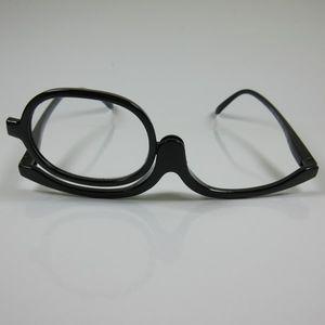Praktische Schminkbrille schwarz +2,0 Lesebrille Make-up Brille Federbügel