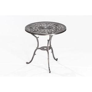 Gartentisch Benidorm-29 Aluminiumguss graphit-metallic, BxHxT: ca. 70x68x70cm