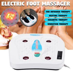Elektrisch Fußmassagegerät Shiatsu Fussmassagegeraet Infrarot-Heiztherapie Weiß