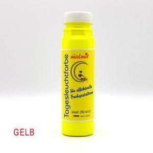 Gelb Tagesleuchtfarbe 250ml Neon Schwarzlichtfarbe UV Farbe Neonfarbe Leuchtfarbe