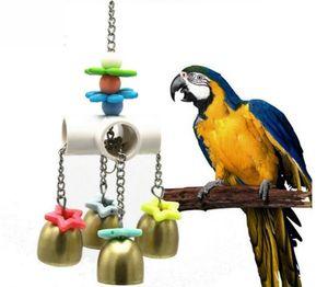 Papagei Vogel Spielzeug Ara Glocke hängen Schaukel Spielzeug Vogelspielzeug