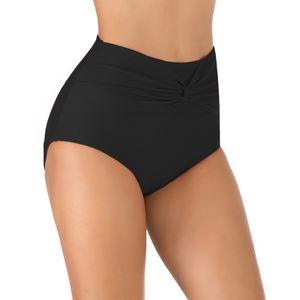 Sexydance Frauen Bikini Dreieck Bottom Bademode Hosen Strand Hohe Taille Badehose,Farbe:Schwarz,Größe:XL
