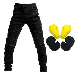 Motorrad Reit Herren Jeans Fly Racing Resistance Pants Schwarz M Größe M