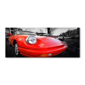 Tulup® Leinwandbild - 125x50 cm - Wandkunst - Drucke auf Leinwand - Leinwanddruck  - Fahrzeuge - Rot - Sportwagen