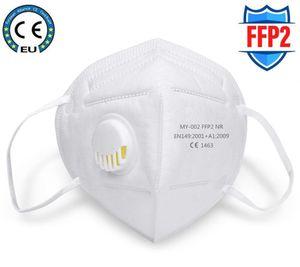VADOOLL 100 Stück Atemschutzmaske FFP2 Maske Mundmaske Anti-Verschmutzungs-Staub-Atemschutzmaske, wiederverwendbare FFP2-Masken Mundmuffel aus Baumwolle Anti-Staub-Maske