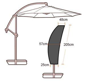 Ampelschirm Schutzhülle Sonnenschirm Kurbelschirm für Sonnenschirm 205 *57cm