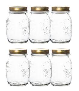6er Set 1 Liter Bormioli Quattro Stagioni Gläser
