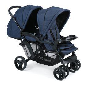 Chic 4 Baby Geschwisterwagen Doppio Kinderwagen Jeans navy blue