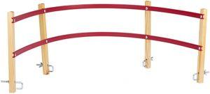 Nijdam Kinder Rückenlehne für Holzschlitten Blank/Rot, Größe:OneSize