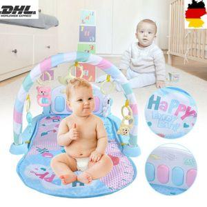 Multifunktional Baby Krabbeldecke Spielbogen Erlebnisdecke Gymnastik Musikmatte Fr0-18 Monate Früherziehung Intelligenzentwicklung Fitnessaufbau