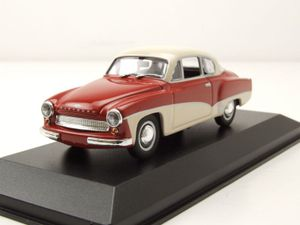 Wartburg A 311 Coupe 1958 rot weiß Modellauto 1:43 Maxichamps