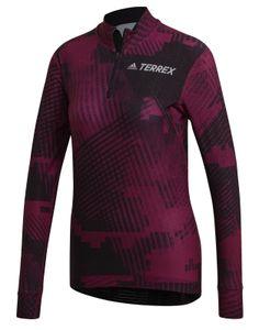 adidas Damen langarm Laufshirt ADIDAS TERREX Agravic XC Race Oberteil lila, Größe:S